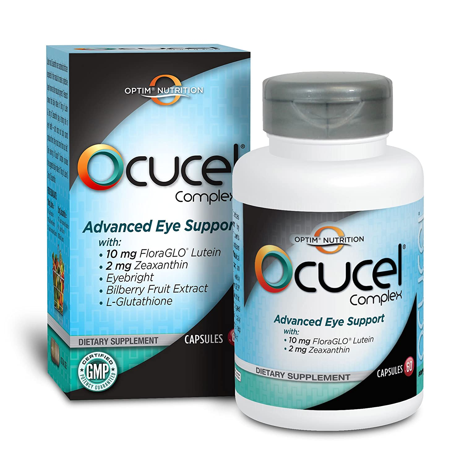 Amazon.com: Optim Nutrition Ocucel Complex Advanced Eye Support Vitamins  for Protection from Excessive Use of Computers and Cellphones, 120  Capsules: Health ...