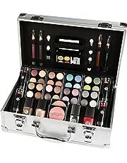 Briconti schmink-koffer coffret maquillage mallette en aluminium 51 pièces