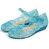 Katara ES10 Scarpe Tacco Principessa Elsa Cenerentola Bambine Costumi Carnevale Halloween EU 27 (17 cm) - blu