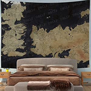DBLLF Movie World Map Backdrop Tapestry for Photography Song of Ice and Fire Game of Thrones Background Wall Hanging,Fans Party Backdrop Tapestry 80×60 Inches DBZY0653GM