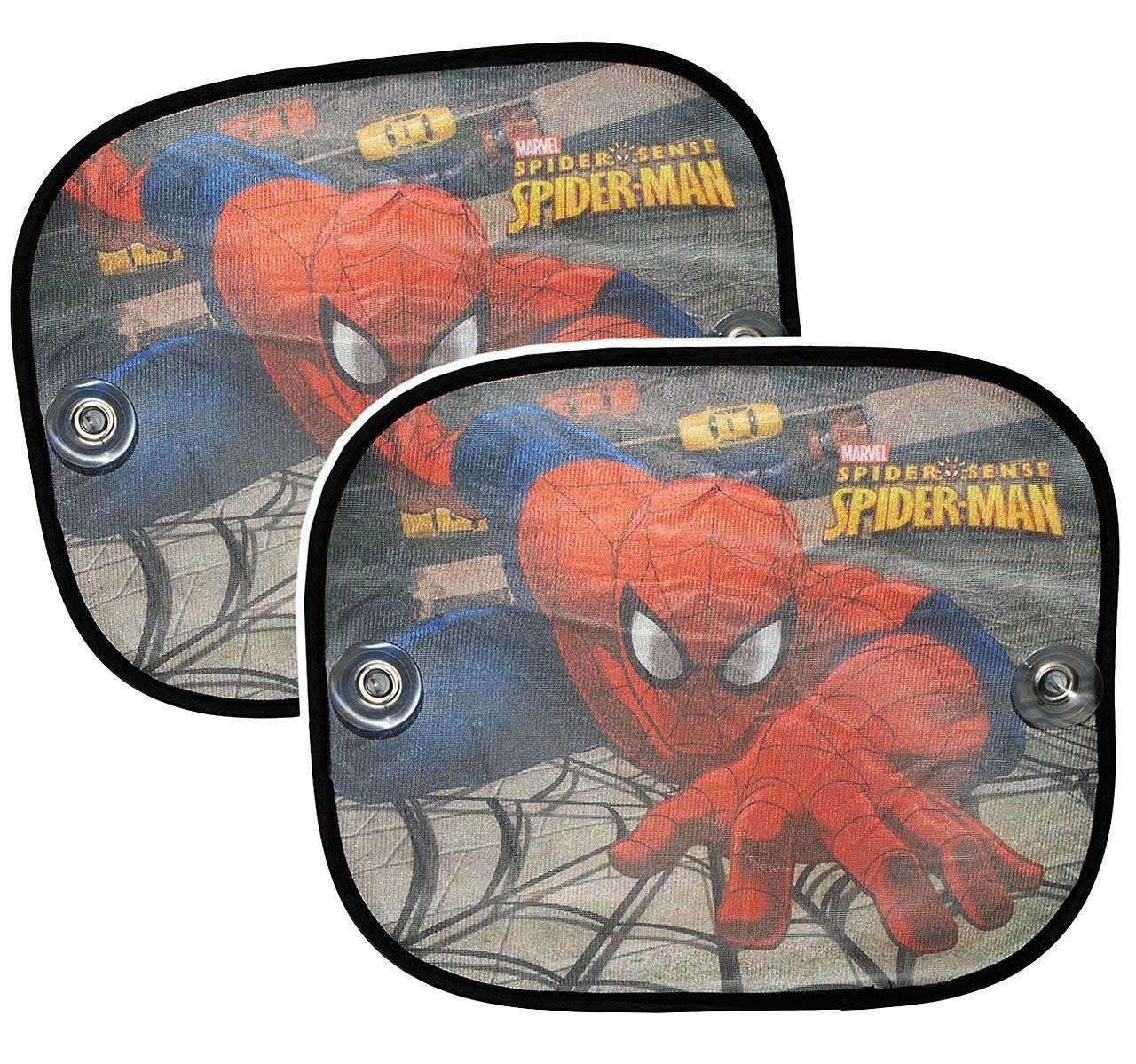 f/ür Kinder Baby Ultimate Spider-Man Set Sonnenschutz Jungen Fe.. f/ür Seitenscheibe im Auto mit Saugnapf Sonnenblende 2 TLG Spiderman Spider Man