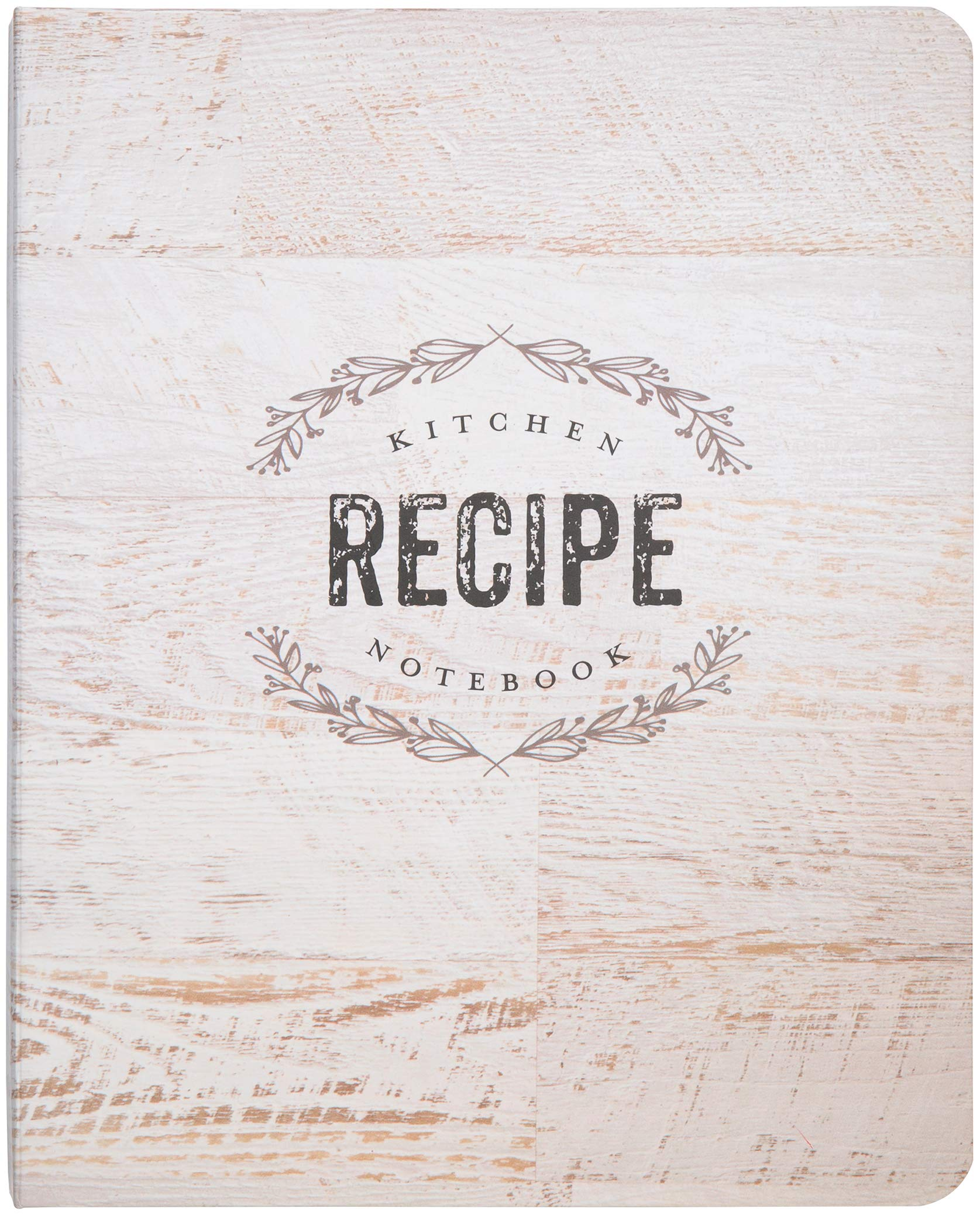 C.R. Gibson Wood Panel Rustic Spiral Recipe Journal, 100 Pages, 7.25'' x 9'' (QMR-18687)