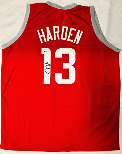 d9e9a43db3c Signed James Harden Jersey - Home Red Beckett BAS COA - Beckett  Authentication - Autographed NBA