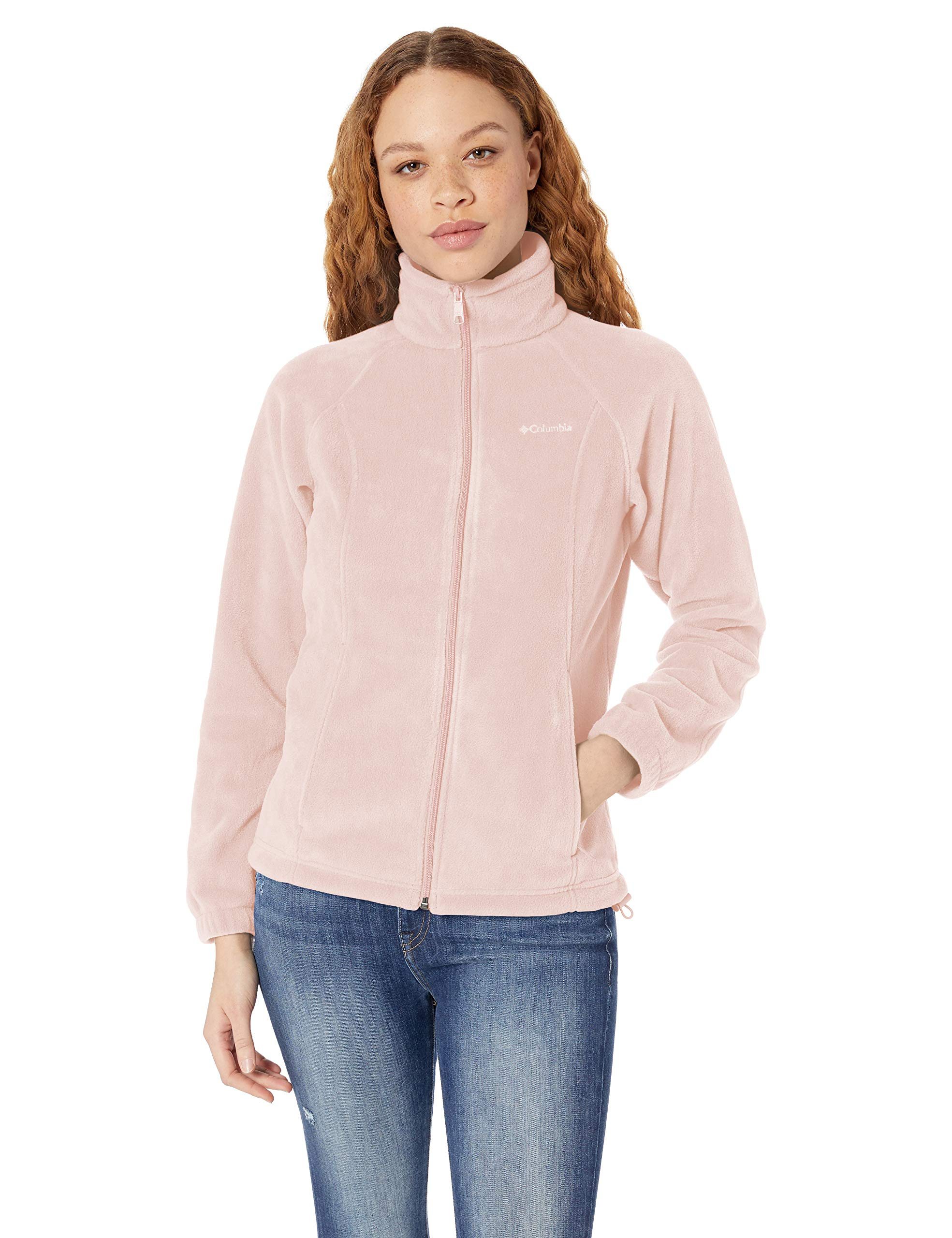 Columbia Women's Plus Size Benton Springs Full Zip Jacket, Soft Fleece with Classic Fit, Mineral Pink, 2X by Columbia
