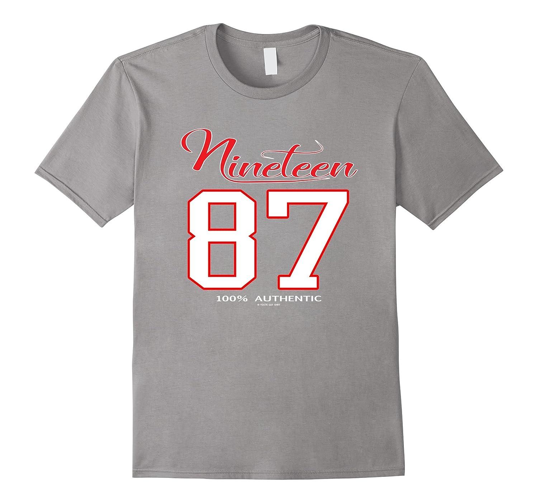 30th Birthday Gift Shirt for a Sport Fan Born in 1987-TD