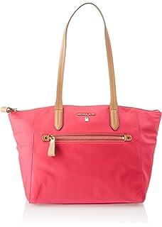 7fd4395d2546 Michael Michael Kors Kelsey Nylon Medium Top Zip Tote Handbag in Ultra Pink