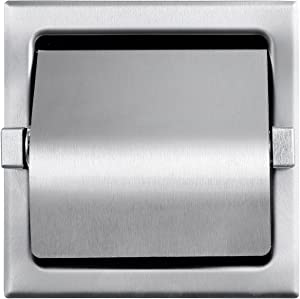 Dependable Direct Recessed Single Roll Hooded Toilet Paper Holder - Stainless Steel - Satin Finish - See Dimension Photo