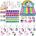 Tanlling 56 Pack Unicorn Party Favors Supplies, Rainbow Unicorn Theme Party Favor, Unicorn Birthday Party Gift, Party Toys, Reward, Carnival Prizes, Pinata Filler, Treasure Chest for Kids Boys Girls
