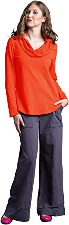 Neon Buddha Womens Loose Fit Jacket Female Long Sleeve Cardigan with Cowl Neck and Big Buttons