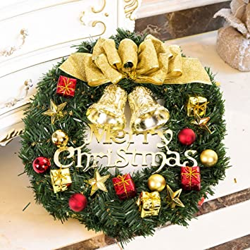 christmas wreath artificial decorated pine small large wreath front door window decoration with