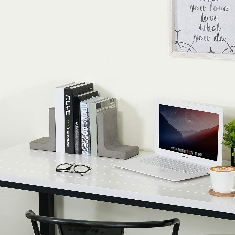 Set von 2/Buche natur Holz B/üro Desktop Buchst/ützen//dekorativer B/ücherregal Display Organisatoren/ /MyGift/®