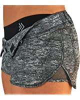 Dry Dudz Woman's Boardshorts, Woman's Athletic Wear Perfect For Swimming, Running or Working Out (Heather)