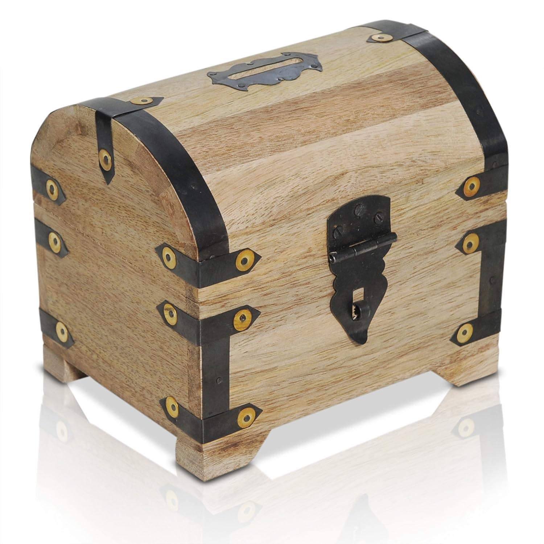 Brynnberg wooden pirate treasure chest | decorative storage box model 'Lady London small' | Vintage decoration handmade |