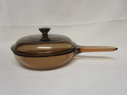 Corning Vision Visions Amber 10 3//4 Skillet with Lid