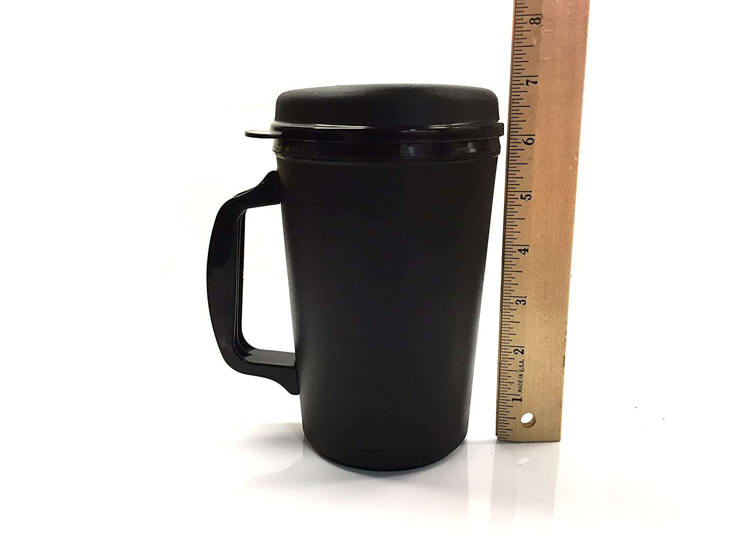 Black GAMA Electronics SYNCHKG122995 20 oz Thermoserv Foam Insulated Coffee Mug