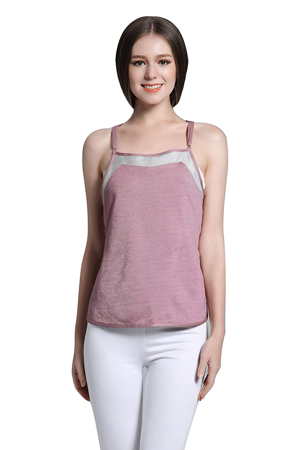 911048ce106 JOYNCLEON Anti-Radiation Maternity Tank-Top Belly Protective Shield Double- Layer Silver Fiber Clothes For Pregnant Women jy0033