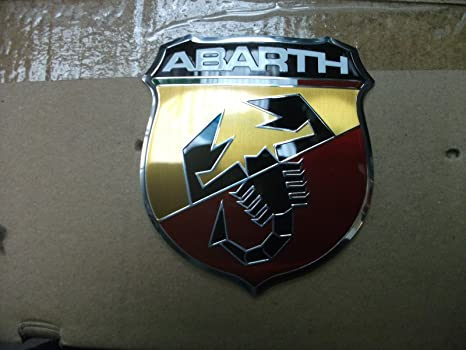 Original Fiat 500 Abarth Emblem Vorne Frontemblem Firmenzeichen Logo 735496478 Auto