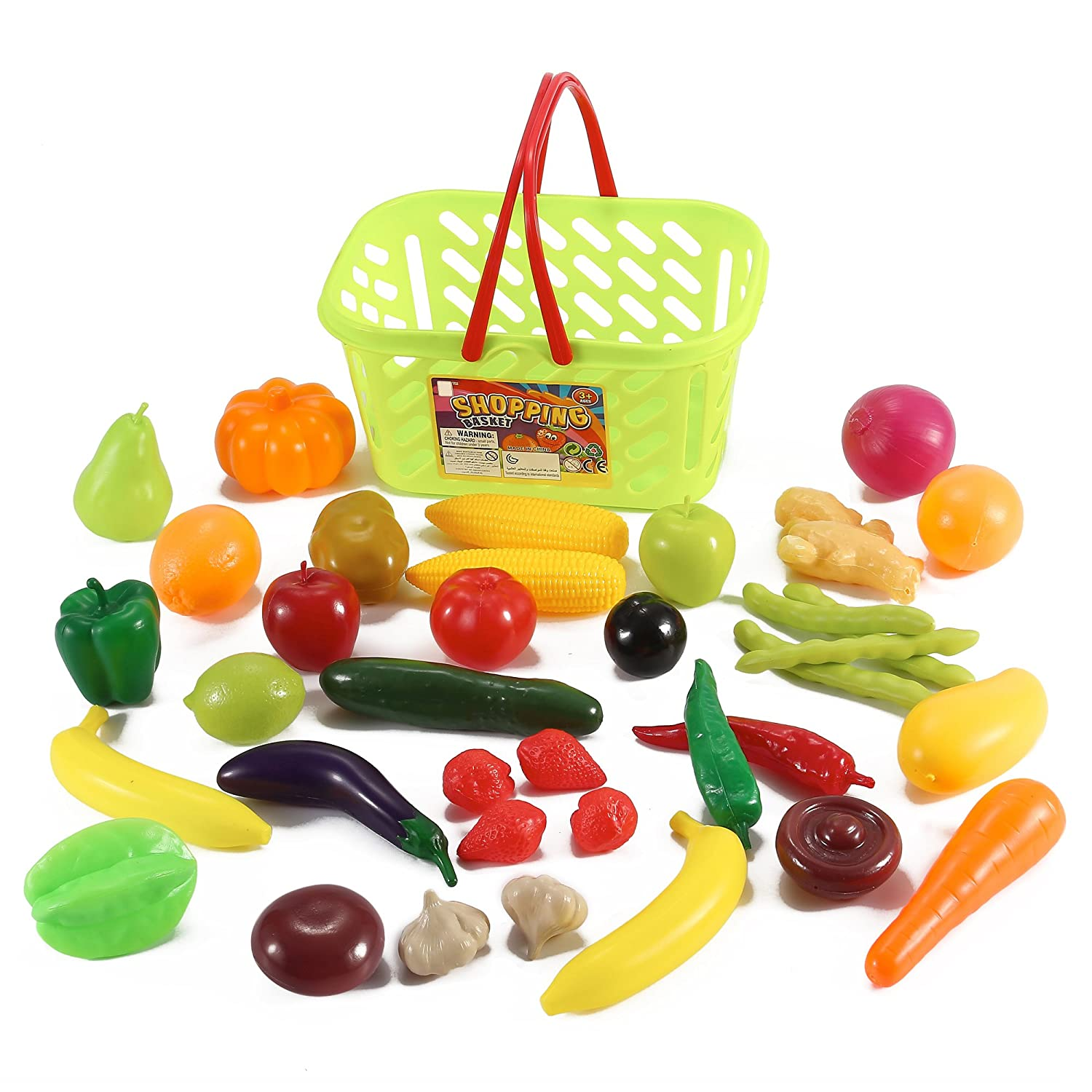 Amazon Fruits and Ve ables Shopping Basket Grocery Play
