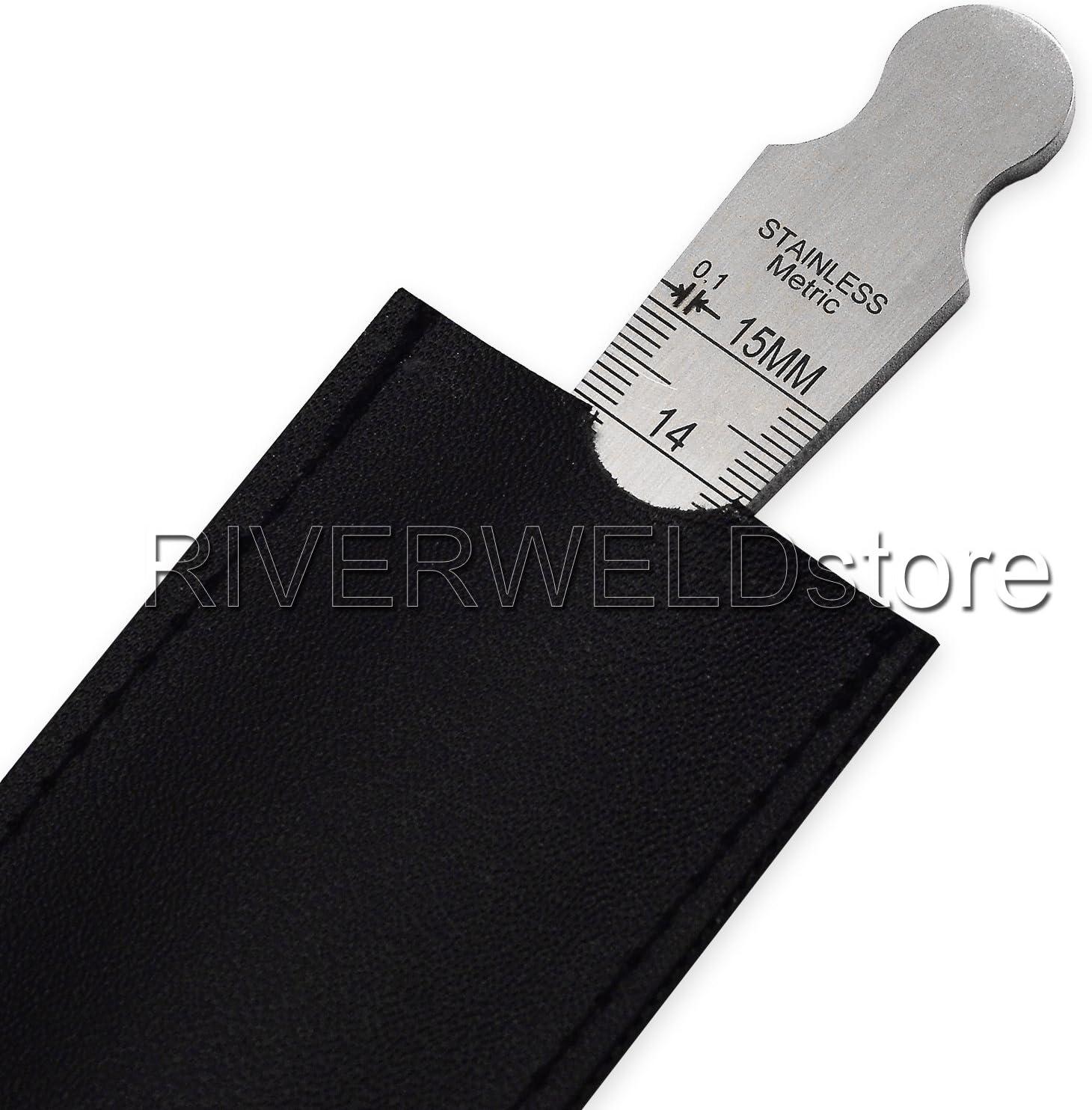 RIVERWELD Taper Gage 1-15mm Stainless Taper Welding Gauge Test Ulnar Inch /& Metric Standard RIVERWELDstore