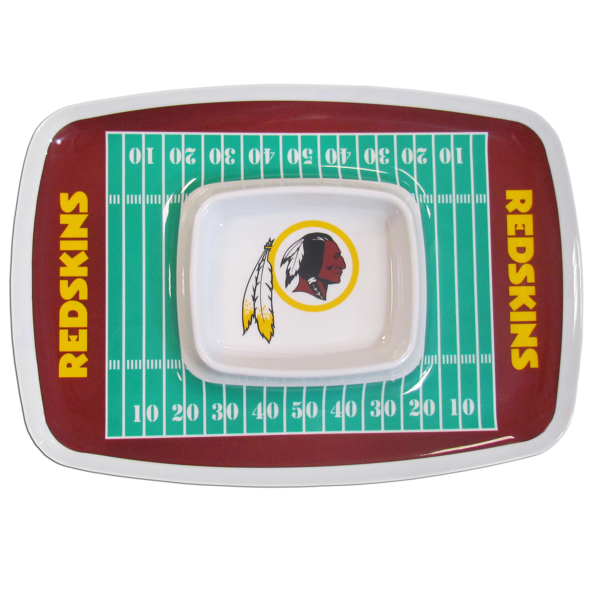 NFL Washington Redskins Melamine Chip & Dip Tray