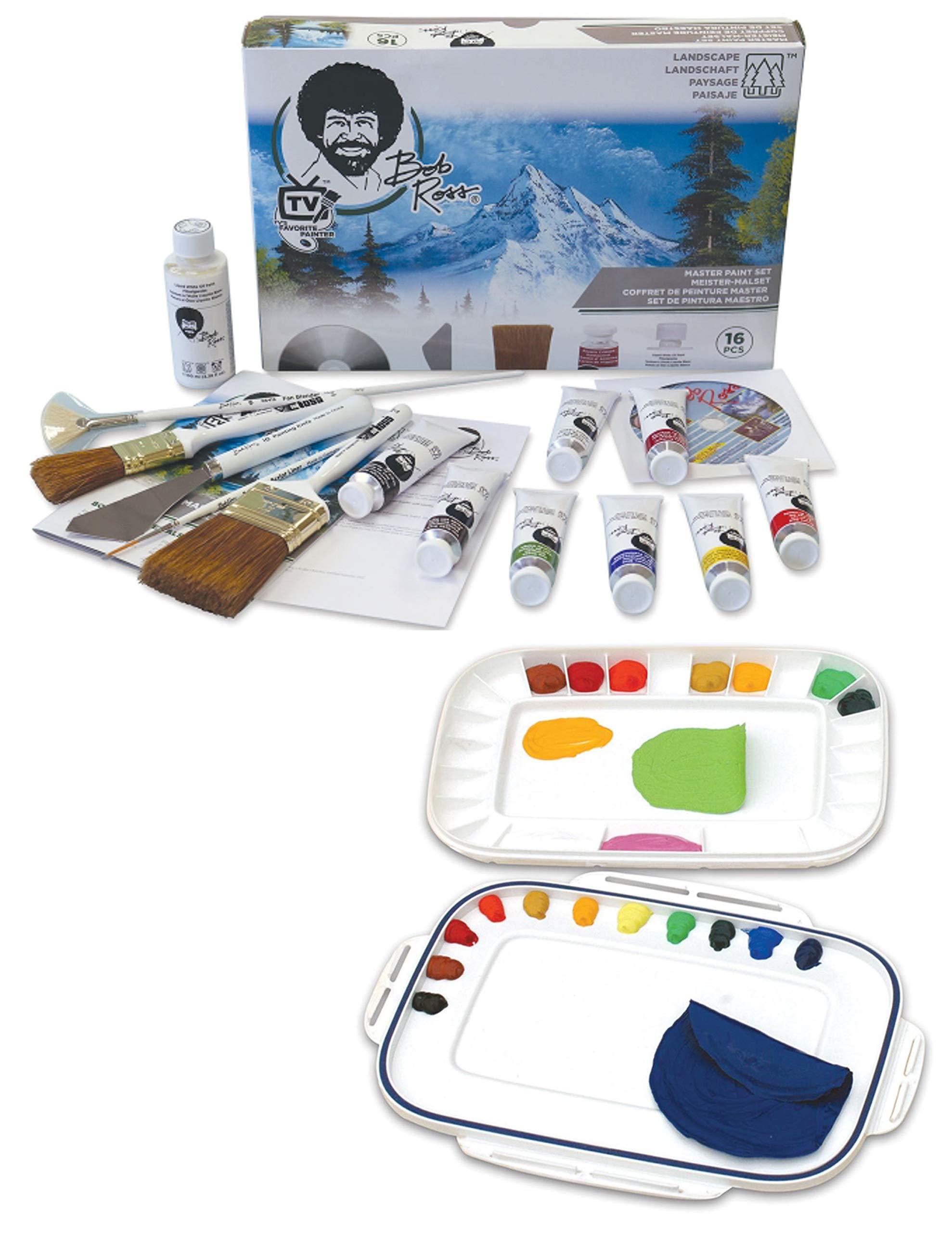 Bob Ross Painting Kit - Martin/F. Weber Bob Ross Master Paint Set - Martin/F. Weber Artelier Paint Palette/Storage/Travel kit by Bob Ross