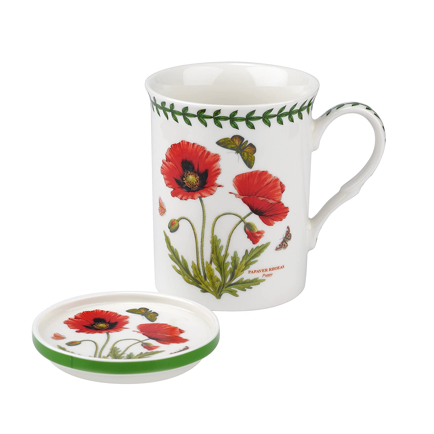 Portmeirion Botanic Garden Poppy Mug and Coaster Set