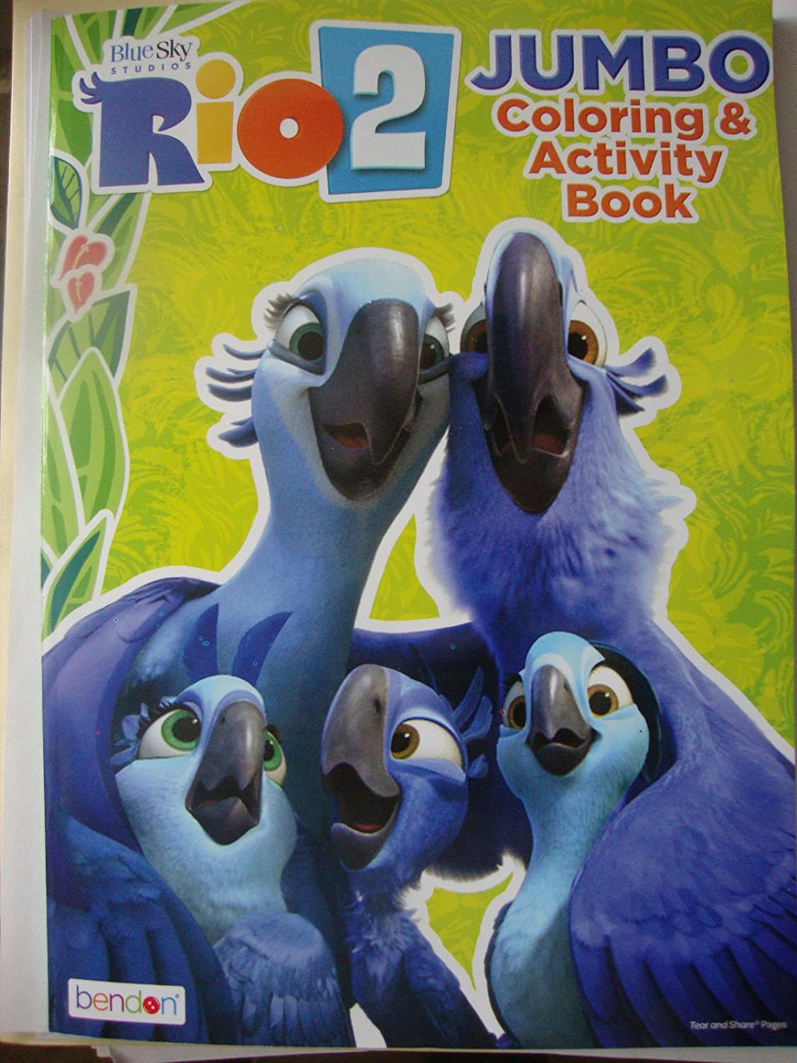 Rio 2 Jumbo Farbeing & Activity Book (96 Pages) Assorted, Designs Vary by Blau Sky Studios