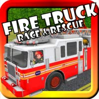 Fire Truck Race & Rescue! Toy Car Game For Toddlers and Kids With Siren, Lights, Fire Fighter Supercar 3D Action