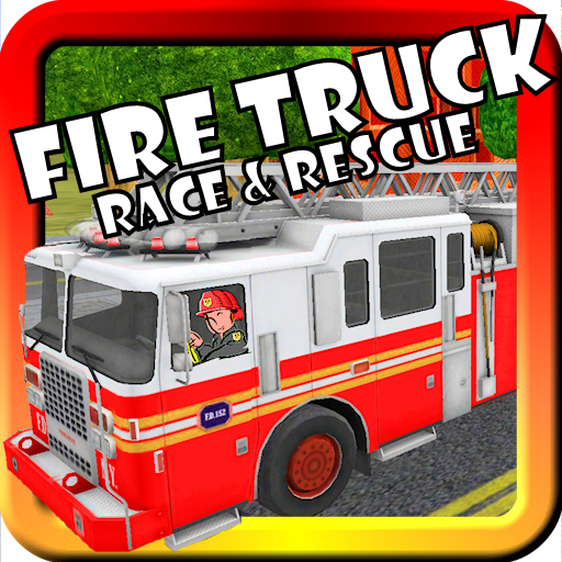 fire truck race rescue toy car game for toddlers and kids with siren lights. Black Bedroom Furniture Sets. Home Design Ideas
