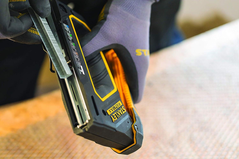 vieliseitig einsetzbar, f/ür Klammern, Rundklammern und Versenkn/ägel, sehr leichtg/ängig, hohe Pr/äzision, handlich und mobil Stanley FMHT0-80550 FMTH0-80550 Fatmax 4-in-1 Handtacker und Nagler