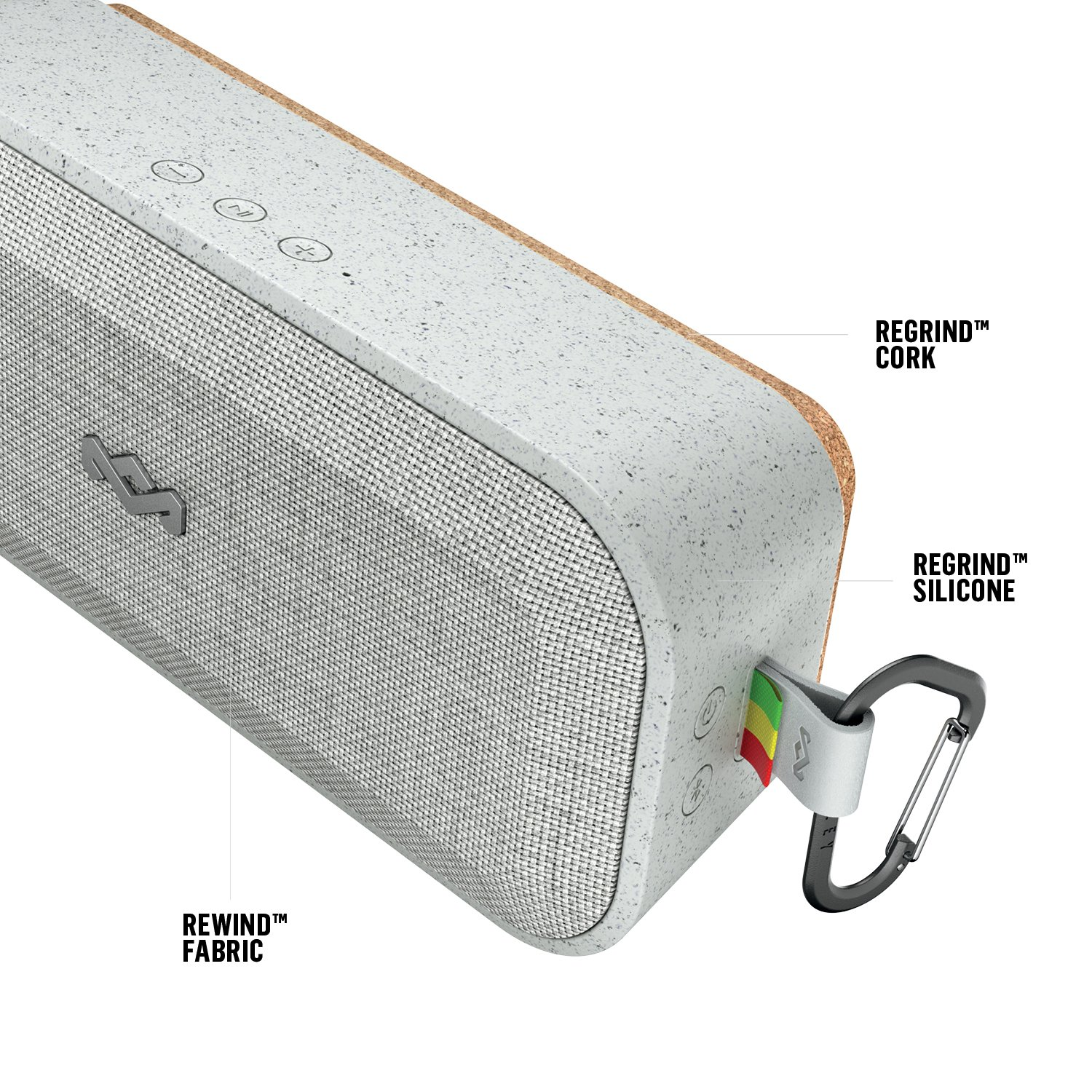 House of Marley EM-JA017-GY - Altavoz Bluetooth Impermeable con 16 Horas de batería, Color Gris: Amazon.es: Electrónica