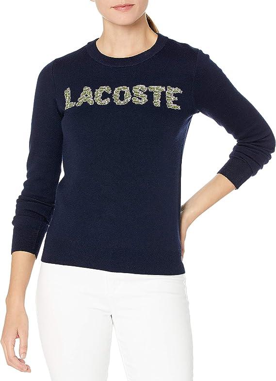 LACOSTE 法国鳄鱼 时尚刺绣 女式毛衣针织衫 3折$74.99 海淘转运到手约¥578 天猫¥1424