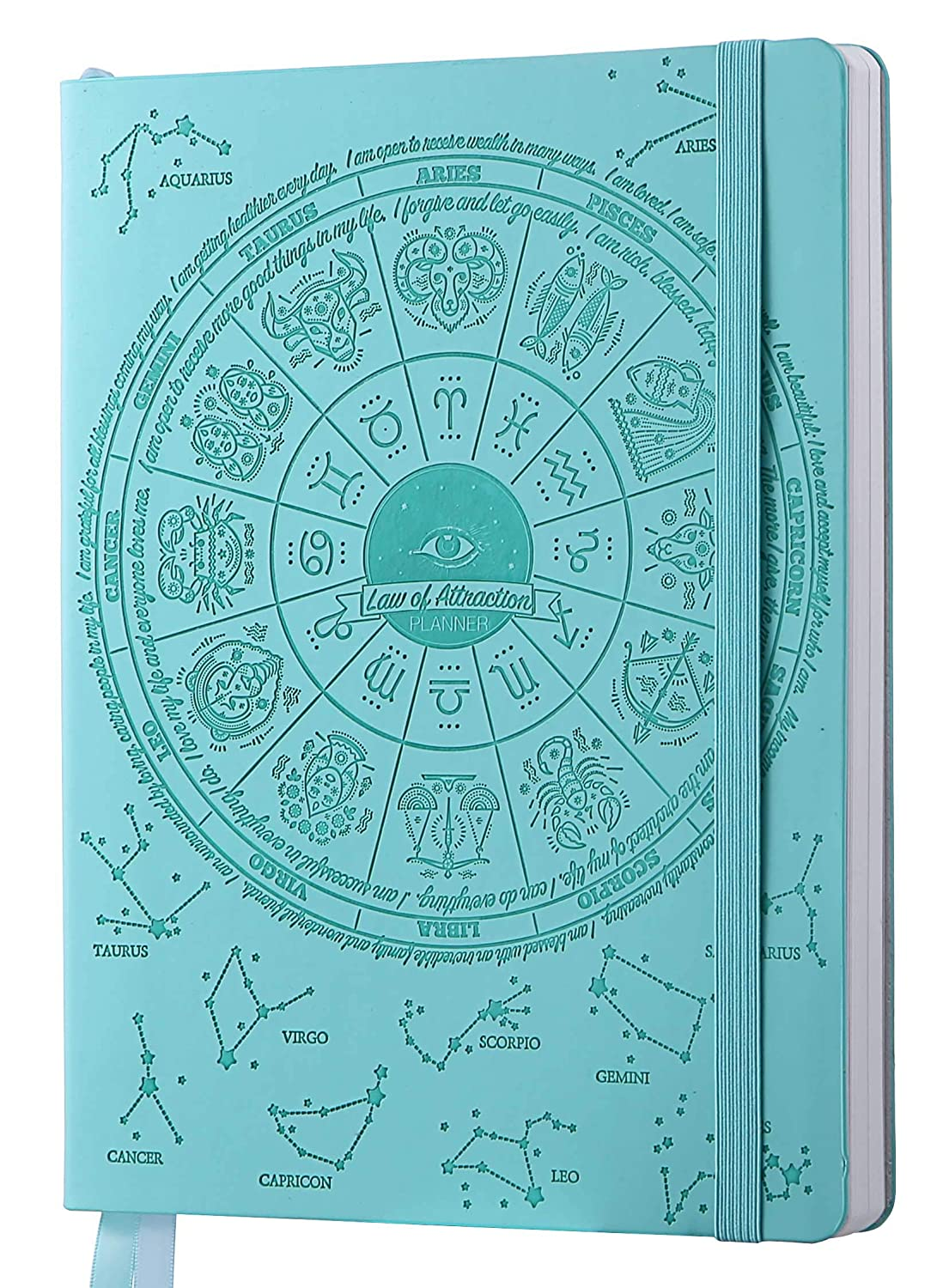 2019-2020 Deluxe Law of Attraction Life Planner - to Increase Productivity, Passion, Purpose & Happiness - Happy Weekly Goal Planner, Organizer & ...