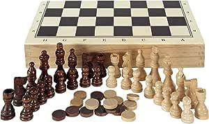 Aquamarine Games CP1070 - Ajedrez, damas y backgammon en estuche