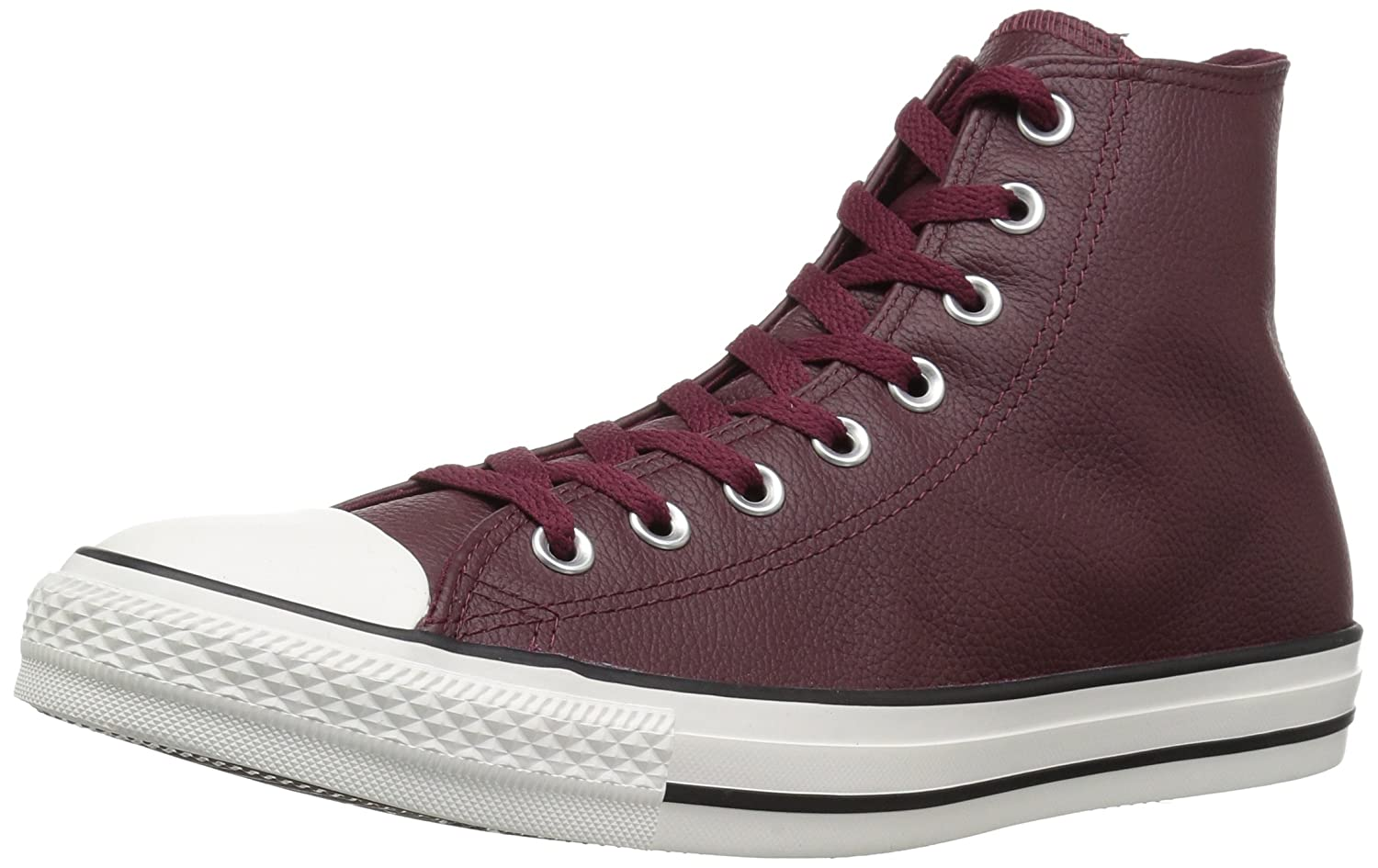 Converse Chuck Taylor All Star Tumbled Leather High Top Sneaker B079C64Y5P 3.5 M US|Dark Burgundy/Dark Burgundy