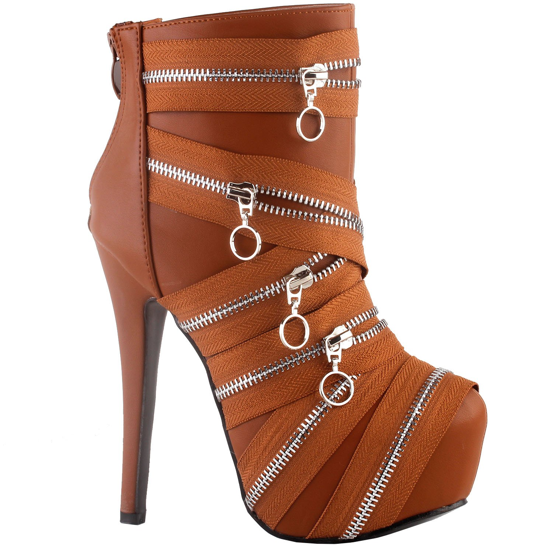 Show Story Punk Black Zip Gothic Platform Stiletto Ankle Bootie Boots, LF80845: Amazon.ca: Shoes & Handbags