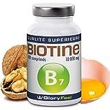 Biotine 400 comprimés à haute dose - pousse cheveux biotin 10000 mcg de vitamine B7 pour des cheveux sains, des ongles forts et une peau claire - Dose pour plus de 13 mois