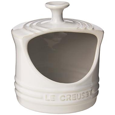 Le Creuset Stoneware 10-Ounce Salt Crock, White