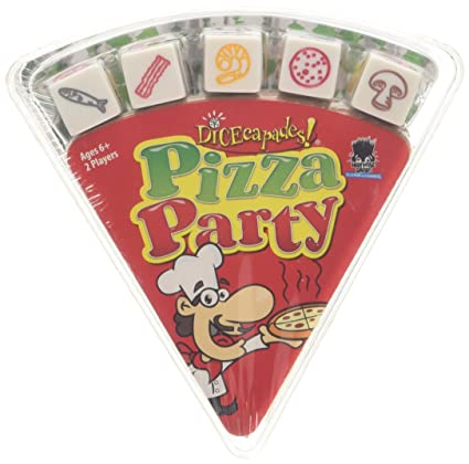 Amazon Com Dicecapades Pizza Party Fast And Frantic Dice Games