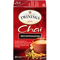 Twinings of London Decaffeinated Chai Tea Bags, 20 Count (Pack of 6)