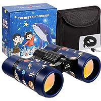 LTWQLing Toy Binoculars for Kids Best Gifts for 3-12 Years Boys Girls Rubber 4x30mm Shock Proof Children Binoculars for…