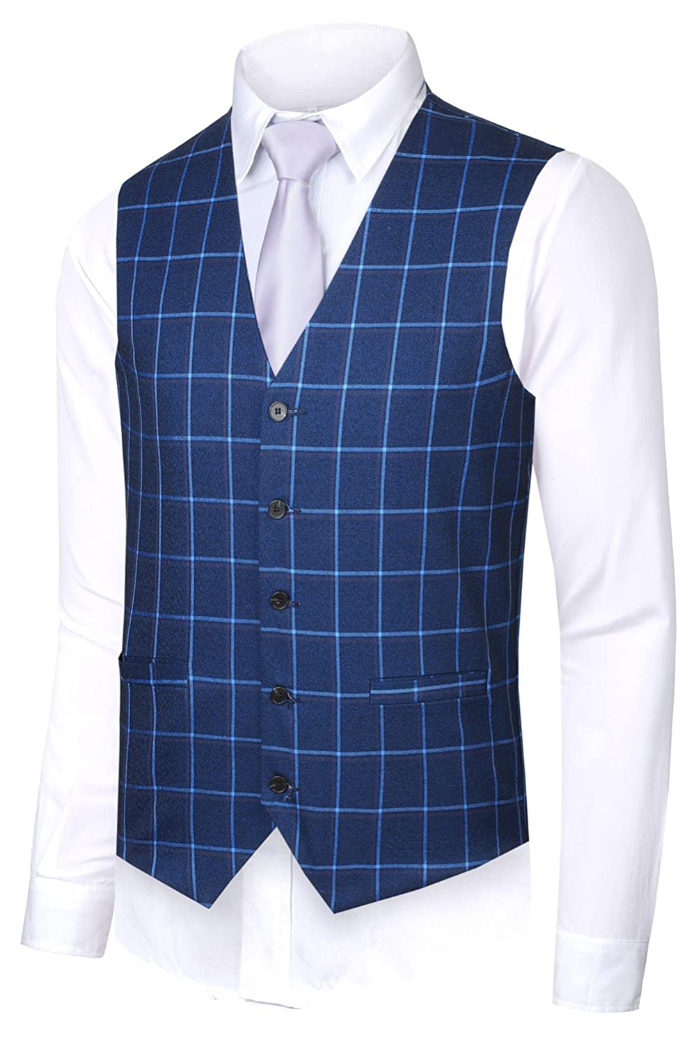 Hanayome Men's British Style Leisure Business Suit Dress Vest Waistcoat VS08