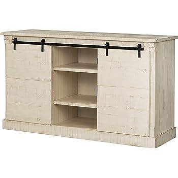 martin svensson home 90937 laurel bay 60 tv stand antique white - White Distressed Tv Stands