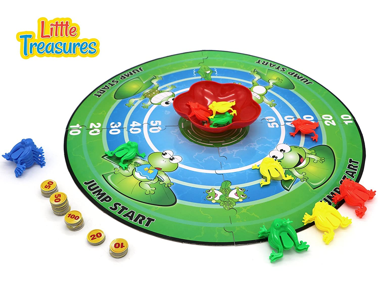 e49d8eff7c36 Amazon.com  Little Treasures Jumping Frog Board Bame  Toys   Games