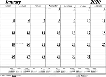 December August House of Doolittle 2019-2020 Monthly Desk Pad Calendar 17 Month Academic 22 x 17 Inches HOD12802-20