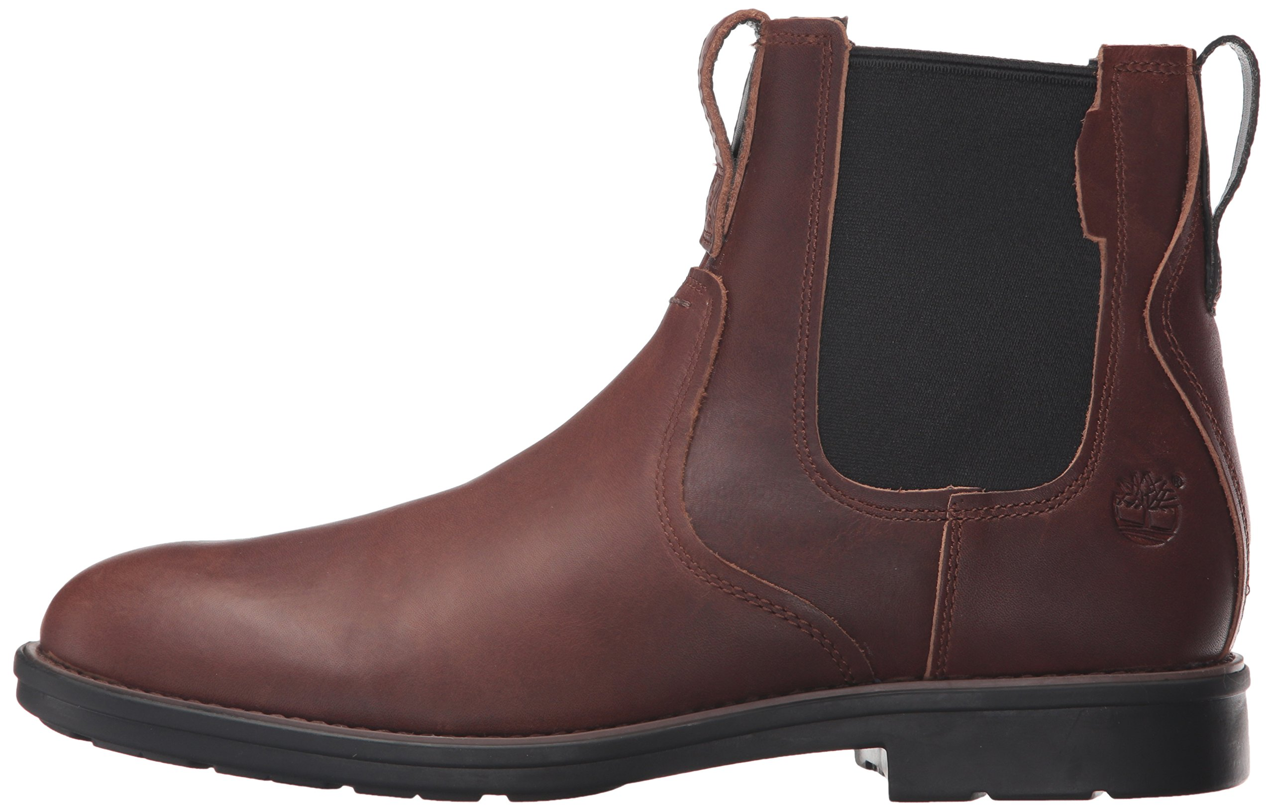 Timberland Men's Carter Notch Chelsea Boot, Dark Brown Full Grain, 14 C US by Timberland (Image #5)