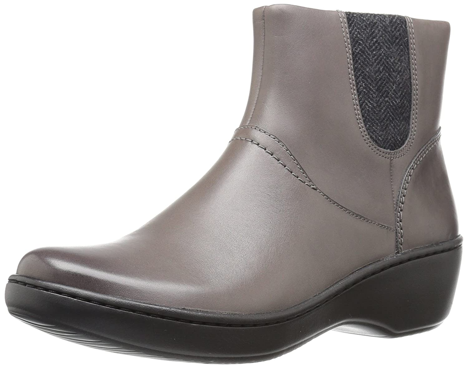CLARKS Women's Delana Joleen Boot B01MY58FDP 12 W US|Grey Leather