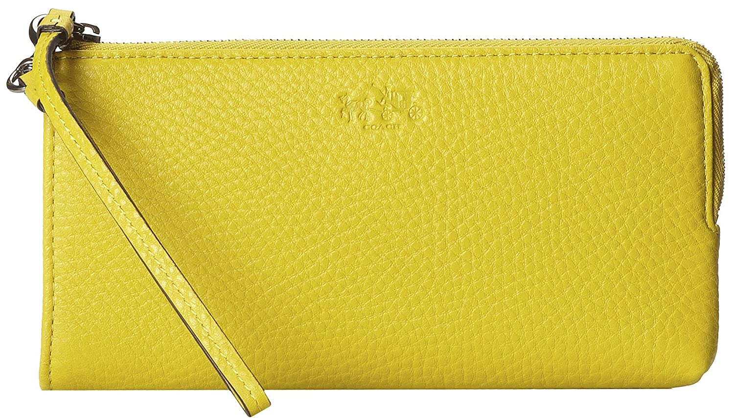 Coach Bleecker Leather Zippy Wristlet Wallet 51981 (Saffron)