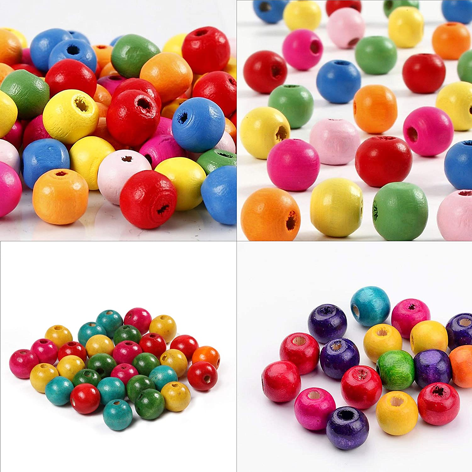UK Seller ACRYLIC PONY BEADS 8mm or 10mm HAIR BRAID Small Bead Mixed Colour