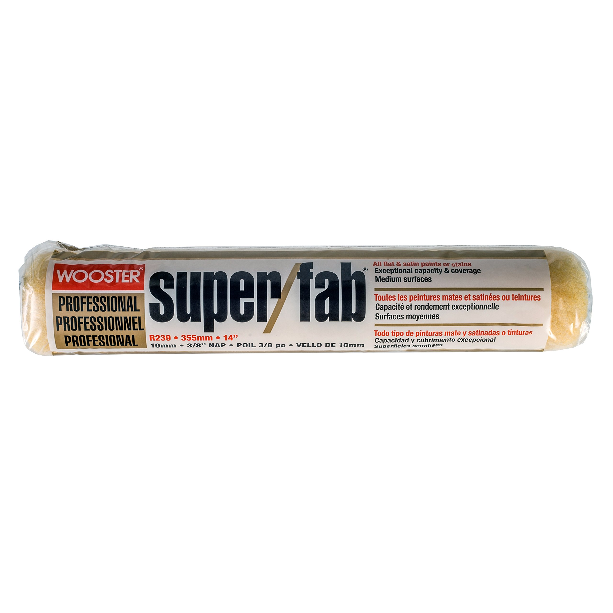 Wooster 211599 14'' Super/Fab 3/8'' Nap Roller Cover